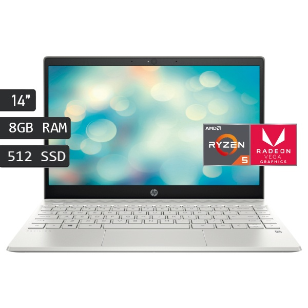 HP-14-DK0008LA AMD Ryzen 5-3500U Ram 8GB; ssd 512 GB; Pantalla 14 HD; RADEON VEGA 8- FREEDOS - PC Tel Computo